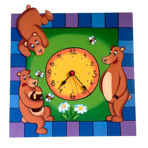Dětské hodiny Medvídci