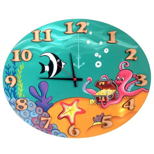 Dětské hodiny Podmořský svět
