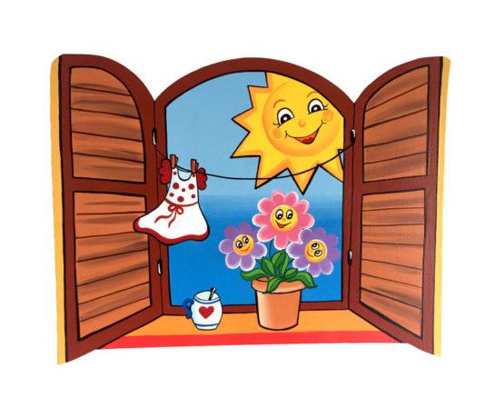 Dětská dekorace Okénko Den