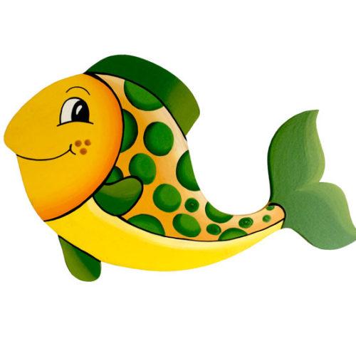 Dětská dekorace rybka – zelená