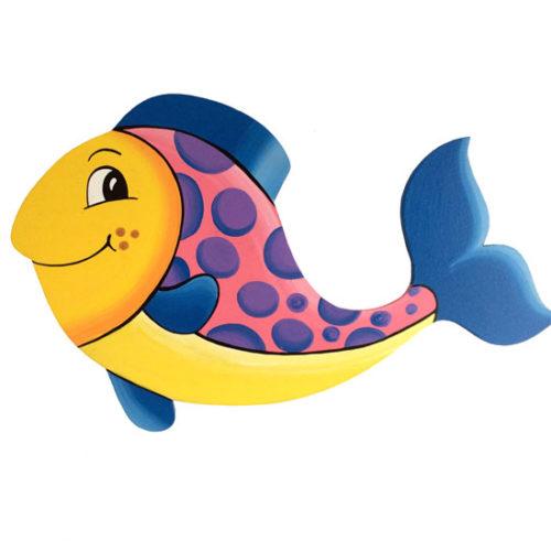 Dětská dekorace rybka – modrá