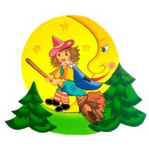 Dětská dekorace Čarodějka