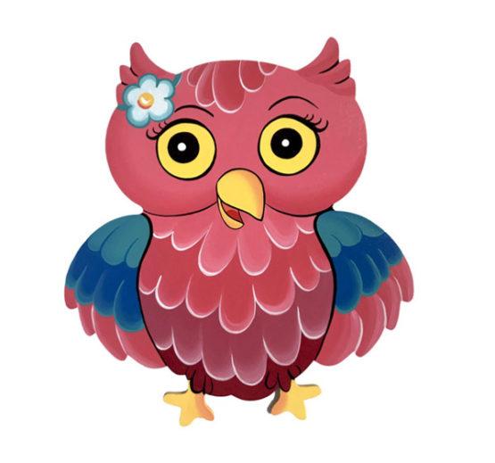Dětská dekorace sova Růženka
