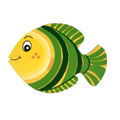 Dětská dekorace Rybka Pruhovka – zelená