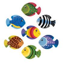Sada barevných rybiček na stěnu – 7ks