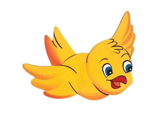Dětská dekorace ptáček Žluťásek