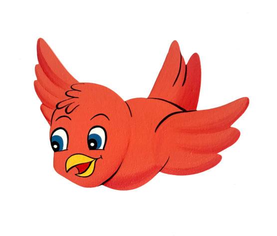 Dětská dekorace ptáček červenka