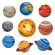Dětská dekorace Sluneční soustava