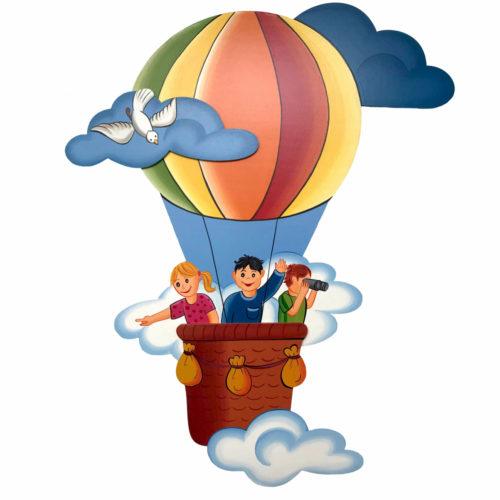 Dětská dekorace létající balon s dětmi
