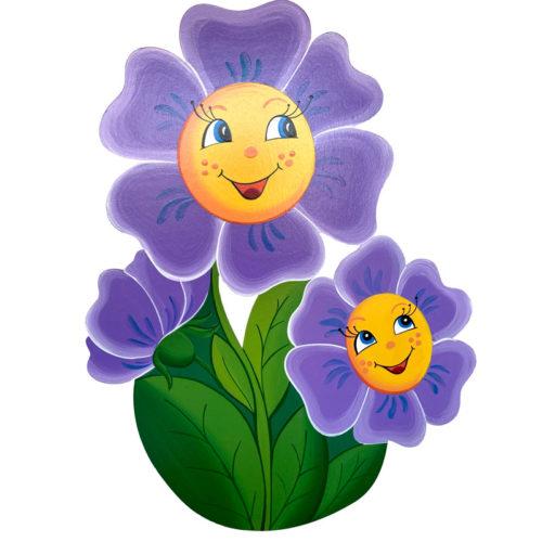Dětská dekorace Květina – fialová