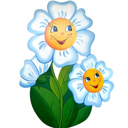 Dětská dekorace Květina – bílá