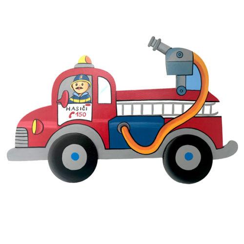 Dětská dekorace hasičské auto