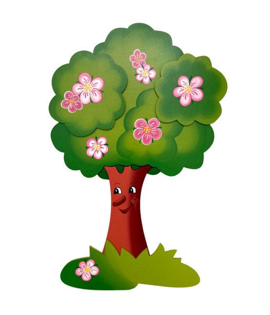 Detska nastenna dekorace k zaveseni jaro ze dreva